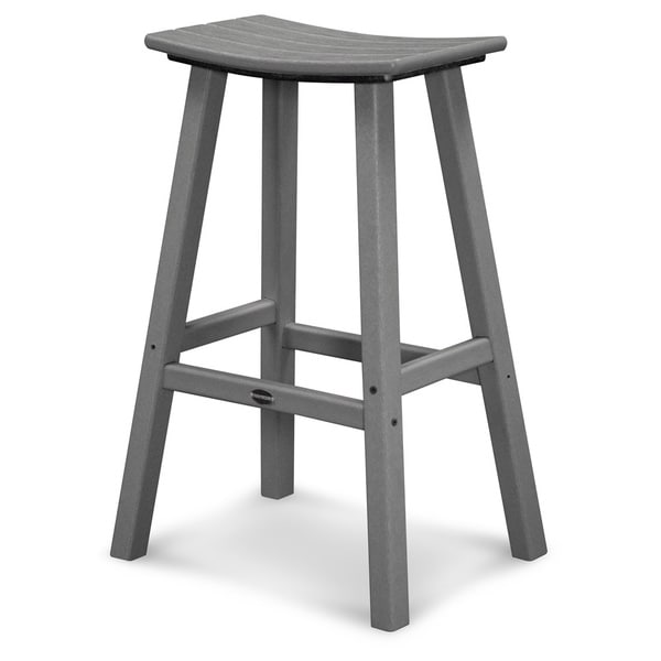 POLYWOOD® Traditional Outdoor Saddle Bar Stool. Opens flyout.
