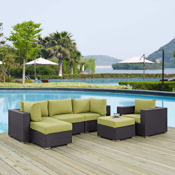 Gather Synthetic Rattan Outdoor Patio Sectional Set 6 Piece Set Free Shipping Today