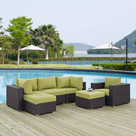 Gather Synthetic Rattan Outdoor Patio Sectional Set (6 Piece Set)