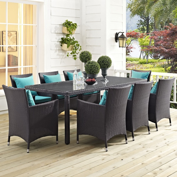 9 Piece Outdoor Patio Dining Set