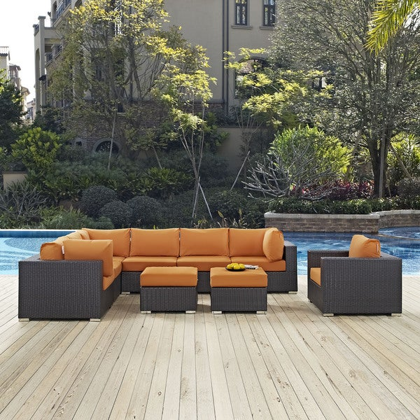 Gather Outdoor Patio Sectional Set (9 Piece Set). Opens flyout.
