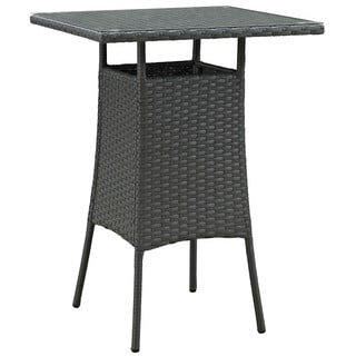 Stopover Synthetic Rattan Small Outdoor Patio Bar Table