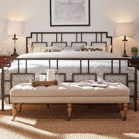 Bordeaux Window Geometric Metal Bed by iNSPIRE Q Classic