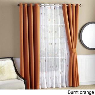 Serenta Fleur De Lis Thermal Insulated Blackout Curtains (6 Piece Set)