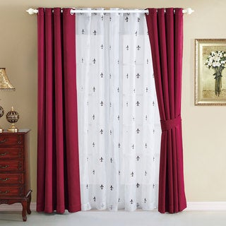 Serenta Fleur De Lis Thermal Insulated Blackout Curtains (6 Piece Set)