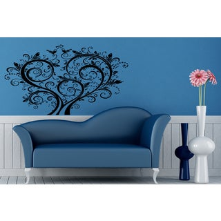Birds on the tree of love Wall Art Sticker Decal