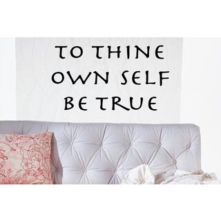 Phrase To Thine Own Self Be True Wall Art Sticker Decal
