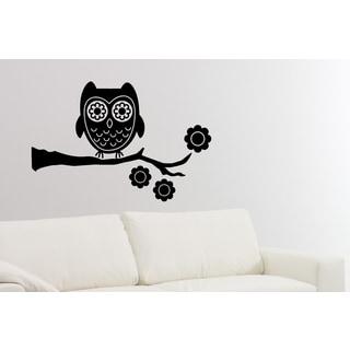 Flower Owl Wall Art Sticker Decal