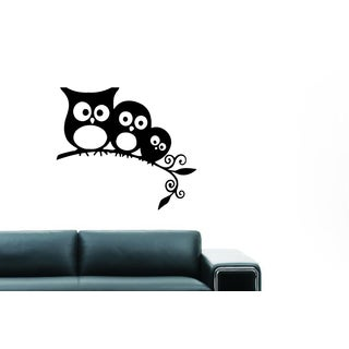 Funny family of owls Wall Art Sticker Decal