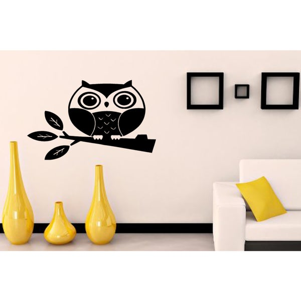 Thick owl Wall Art Sticker Decal