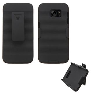 Insten Black Hard Snap-on Rubberized Matte Holster Belt Clip For Samsung Galaxy S7