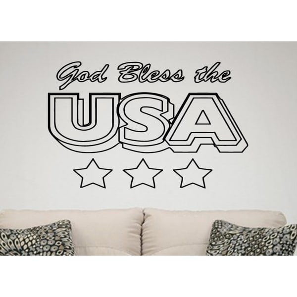 shop usa god bless me wall art sticker decal - free shipping on
