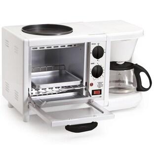 Elite Cuisine EBK-200 3-in-1 Multifunction Breakfast Center, White