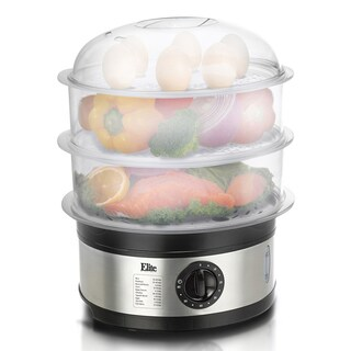 Elite Platinum EST-2301 3 Tier 8.5-quart Food Steamer