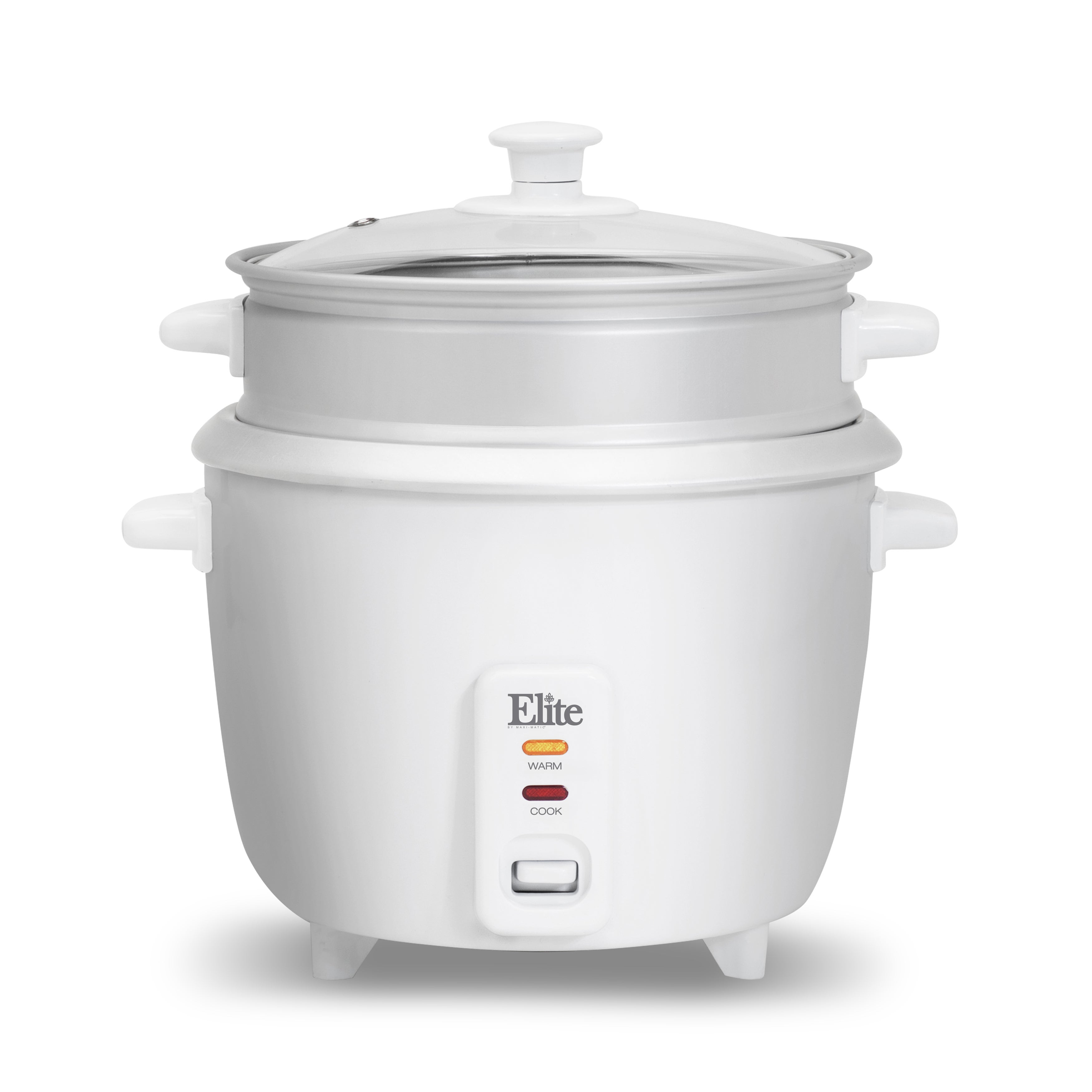 Elite Systems Gourmet ERC-003ST 6-cup Rice Cooker with St...