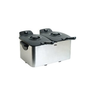 Elite Platinum EDF-4080 8-quart Deep Fryer, Stainless Steel