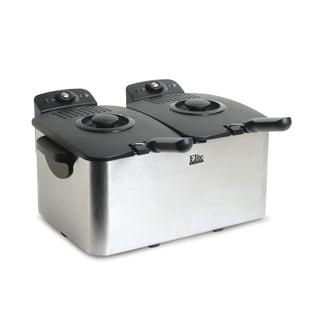 Elite Platinum EDF-3060 6-quart Deep Fryer, Stainless Steel
