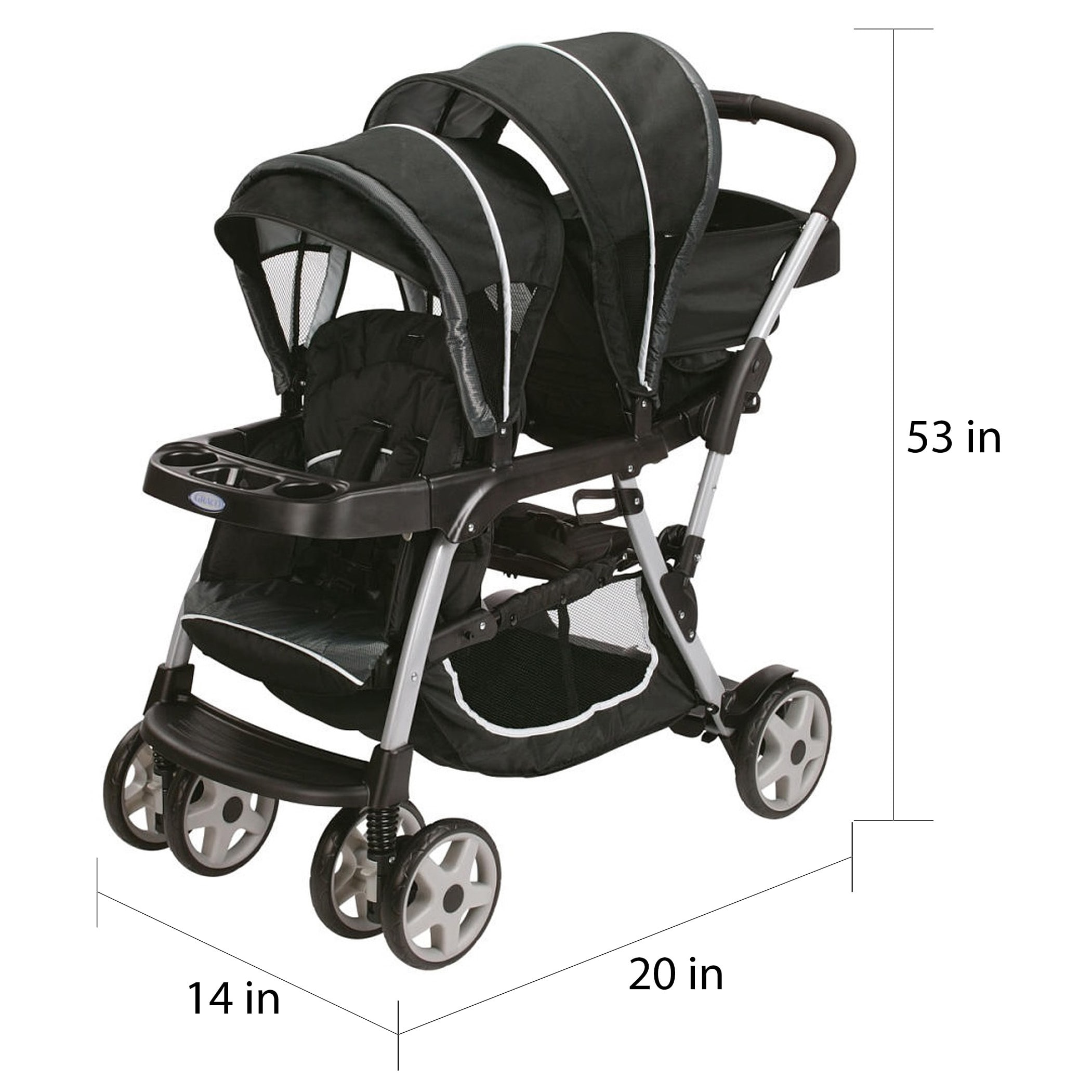 Graco Ready2Grow Click Connect LX Stroller in Gotham c4577a7f 7b35 4e97 b553 6adf4eb1846b