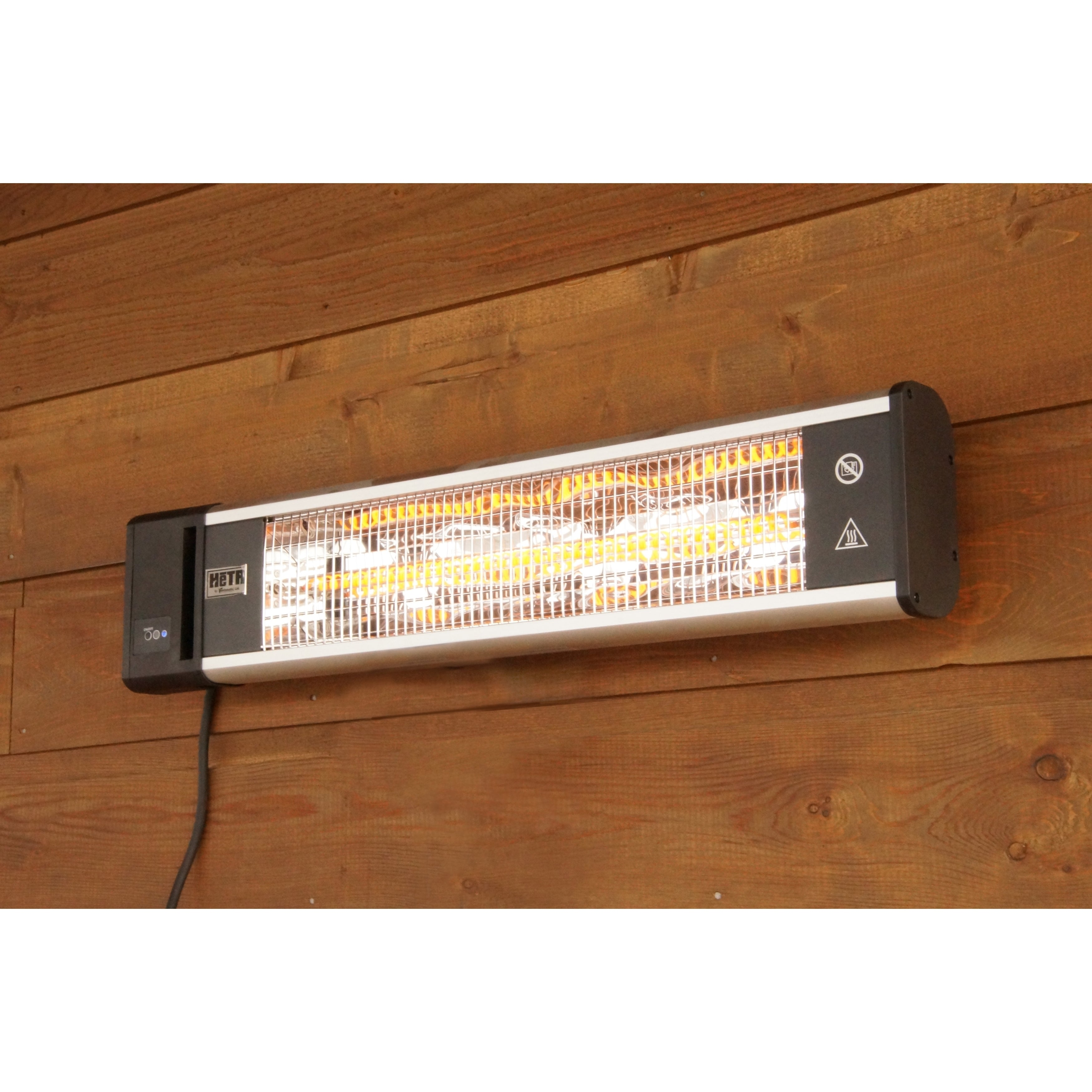 Radiant Outdoor Rated Patio Wall Mount Electric Heater (O...