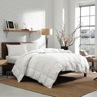 Eddie Bauer 700 Fill Power White Goose Down Damask Cotton Lightweight Oversized King Size Comforter (As Is)