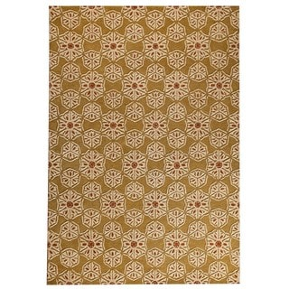 M.A.Trading Hand-tufted Normandie Gold Rug (5'2 x7'6 )