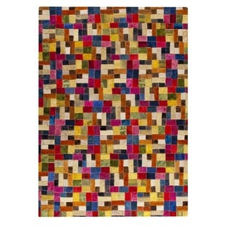 M.A.Trading Hand-tufted Puzzle Multi Rug (5'2 x7'6 )
