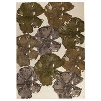 M.A. Trading Hand-tufted Fauna Fall Rug (5'2 x7'6) (India)