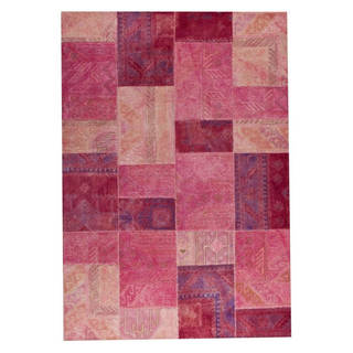 M.A. Trading Hand-tufted Sartaj Light Pink Rug (5'2 x7'6)
