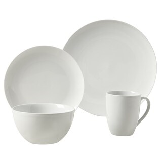Adams White Porcelain Round 16-piece Dinnerware Set