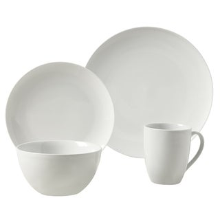 Adams White Porcelain Round 16-piece Dinnerware Set  sc 1 st  Overstock.com & Porcelain Casual Dinnerware For Less | Overstock