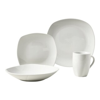 Quinto 16pc Soft Square Porcelain Dinnerware Set