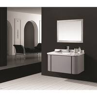 Stella Grey Marble Top Wall Mount Bathroom Vanity (40 Inches)