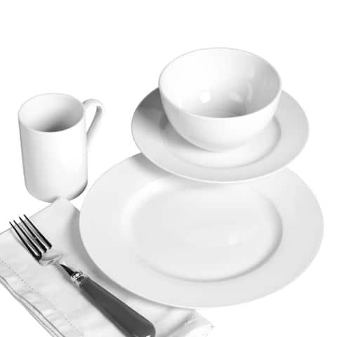 Soleil 16pc Round Porcelain Dinnerware Set