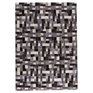 M.A. Trading Hand-tufted Puzzle Grey Rug (6'6 x 9'6)