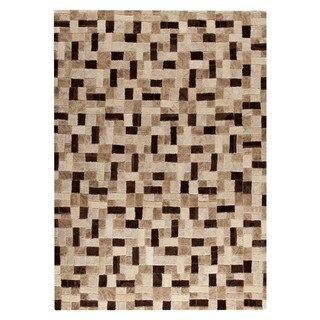 M.A. Trading Hand-tufted Puzzle Beige Rug (6'6 x 9'6)