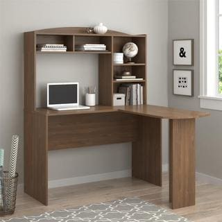 ameriwood home sutton saint walnut ldesk with hutch