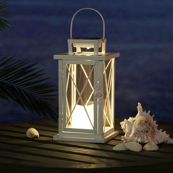 Shop Sunjoy Small Metal Led Solar Lantern With White