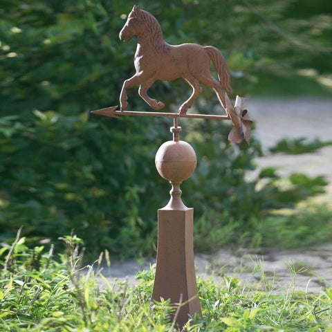 Sunjoy Vintage Horse Weather Vein, Rust Finish Metal, 37-inch