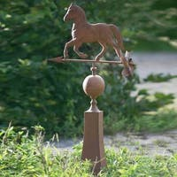 Sunjoy Vintage Horse Weather Vane, Rust Finish Metal, 37-inch