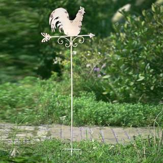 Sunjoy Rustic Rooster 53-inch Iron Garden Stake