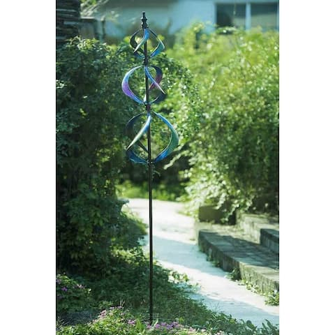 Sunjoy Metal Kinetic Spinner-inch Purple, 87 Inches