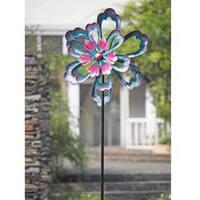 Sunjoy Metal Flower Spinner Stake-inch Purple, 88 Inches