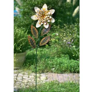 Sunjoy Large Yellow Flower Garden Stake7