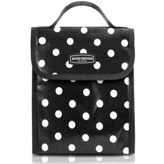 Jacki Design Medium Polka Dot Insulated Lunch Bag