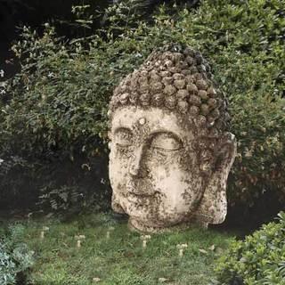 Sunjoy Rustic Garden Buda Statue, 17-inch, Resin