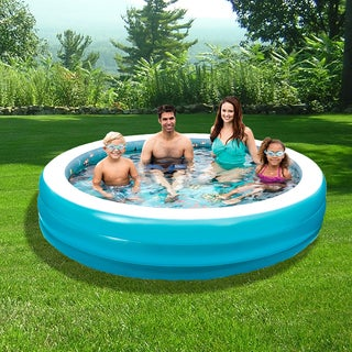 3D Inflatable 7.5-ft Round Family Pool