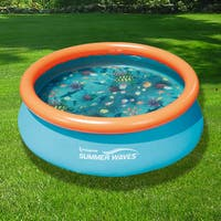 3D Quick Set 7 ft. Round Family Pool