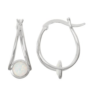 Gioelli Sterling Silver Opal Swing Earrings