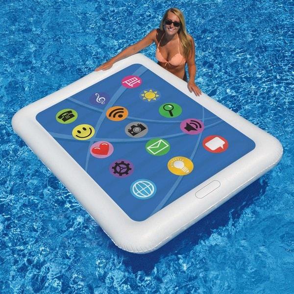 Smart Tablet Float 67-in x 50-in Floating Pool Mattress