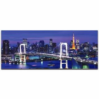Modern Crowd 'Tokyo City Skyline' Urban Cityscape Enhanced Photo Print on Metal or Acrylic